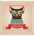Hipster Owl vector image vector image