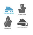 home and building contruction logo compilation vector image vector image