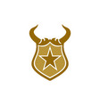 horn shields star guard protection logo icon vector image