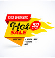 hot sale banner this weekend special offer vector image vector image