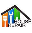 house repair service tool symbol vector image vector image