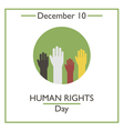 Human Rights Day vector image vector image