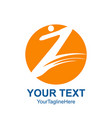 initial letter z logo template colored yellow vector image