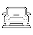 isolated car design vector image vector image