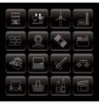line business and industry icons vector image vector image