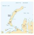 map archipelago nova zemlya russia vector image vector image
