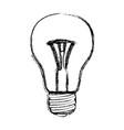 monochrome blurred silhouette of light bulb icon vector image vector image