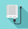 power bank icon flat style vector image vector image