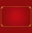 red chinese rhombus and circle abstract background vector image
