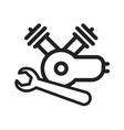 Repair Engine Motor vector image
