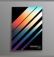 retro design poster with colorful gradient vector image vector image