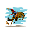 Rodeo Cowboy vector image vector image