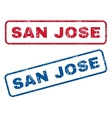 San Jose Rubber Stamps vector image vector image