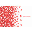 scattered hearts red flat icons border isolated vector image vector image