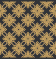 seamless line thai gold pattern on gray vector image vector image
