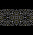 seamless ornament paisley skulls and bones vector image vector image
