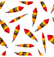 seamless pattern with carnival fireworks vector image vector image