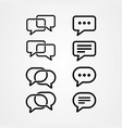 set chat bubble icons vector image vector image