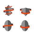 Set of heraldry shields vector image vector image