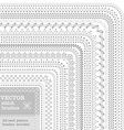 set of white seamless stitch brushes vector image vector image