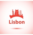 Silhouette lisbon portugal city