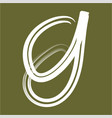 simple g initials line art logo vector image