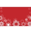 snowflakes on red vector image vector image