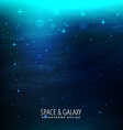 space background with blue lights vector image