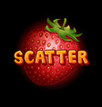 strawberry icon for slots game vector image vector image