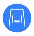 Swing seat icon in black style isolated on white vector image