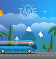 Take Vacation travelling concept Flat design vector image vector image