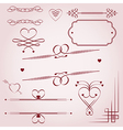 Valentines Day borders vector image vector image