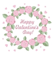 Valentines day flower ring vector image