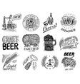 vintage beer badge set alcoholic label with vector image vector image