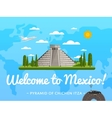 Welcome to Mexico poster with famous attraction vector image vector image