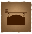 wrought iron sign for old-fashioned design vector image vector image