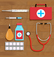 drugs for treatment top view vector image