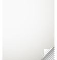Blank paper sheet with bending corner on vector image