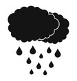 cloud rain icon simple black style vector image