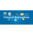 connect everywhere anywhere working mobile vector image