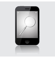Smartphone with Magnifying Glass Search Icon vector image