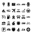 30 Transport Icons vector image