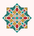 arabesque pattern vignette in eastern style vector image vector image
