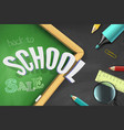back to school sale top view banner vector image