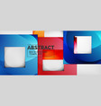 background with color squares composition modern vector image vector image