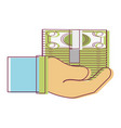 bill cash money in the hand vector image vector image