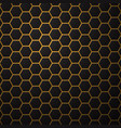 black background with hexagons vector image vector image