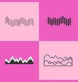 black charts collection on vector image vector image