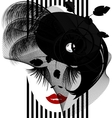 black dame vector image vector image