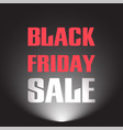 black friday sale discount text with light lamp vector image vector image